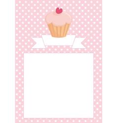 Restaurant menu wedding card list or bashower vector