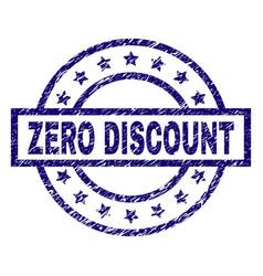 scratched textured zero discount stamp seal vector image