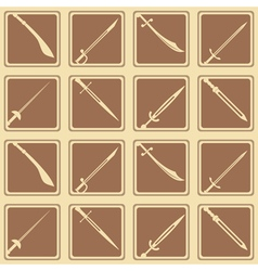 Seamless background with swords vector