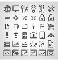 Set of SEO icons vector image