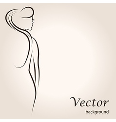 sitting woman vector image