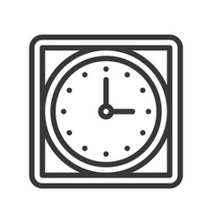 square wall clock icon outline design editable vector image