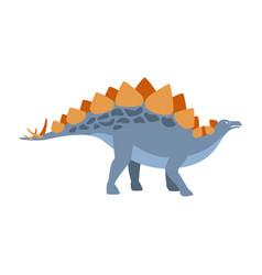 stegosaurus dinosaur of jurassic period vector image
