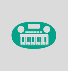 synthesizer toy ico vector image