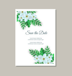 tender wedding invitation vector image