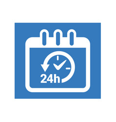 time management icon vector image