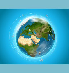 Travel destination concept vector