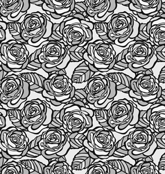 Vintage seamless background of gray roses vector image