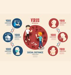 virus corona covid19 19 infographic geometric desi vector image