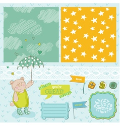 Baby Bear Shower Theme vector image