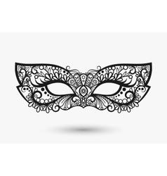 Beautiful lace mask vector image