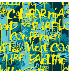 california surfing company seamless pattern vector image vector image