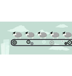 Educated sheep vector image vector image