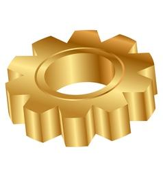 gold cog wheel 3d vector image