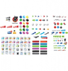 graphic collection vector image vector image