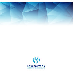 abstract low polygon light blue color polygonal vector image vector image