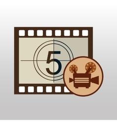 camera movie vintage counting strip design vector image