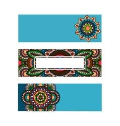 Horizontal banner mandala ornament template vector image vector image