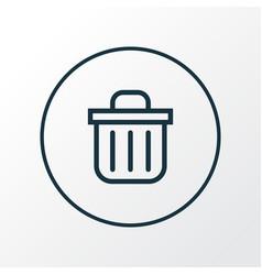 recycle bin icon line symbol premium quality vector image