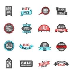 Black Friday icons set cartoon style vector image vector image