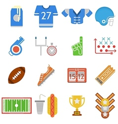 Colored icons collection for American football vector image vector image