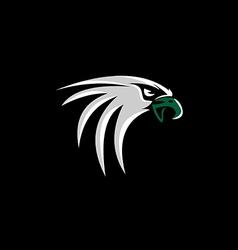 hawk eagle head logo vector image vector image