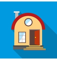 House with chimney icon flat style vector image vector image
