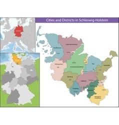 Map of schleswig-holstein vector