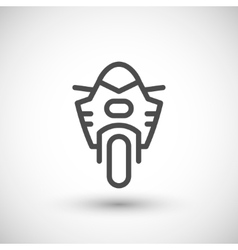 Modern sport motorcycle line icon vector image