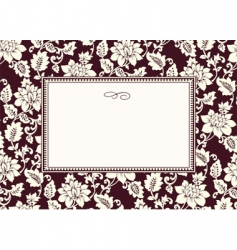 rose pattern and frame vector image