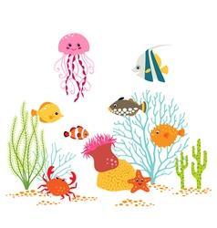 Underwater world design vector image vector image
