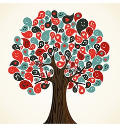 Abstract music tree vector image vector image