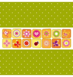 abstract spring time flower vector image vector image