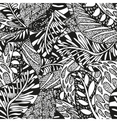 Doodling hand drawn seamless background with vector image