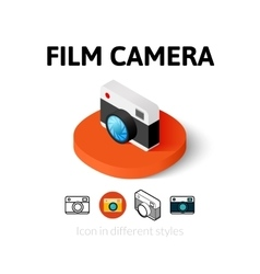 Film camera icon in different style vector image