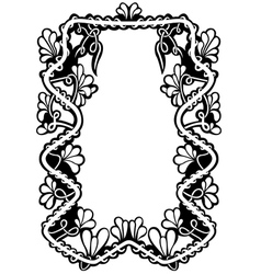 floral frame isolated vector image