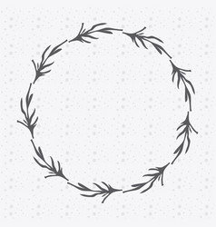 Rustic emblem branches icon vector
