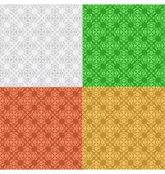 set - decorative seamless patterns vector image vector image