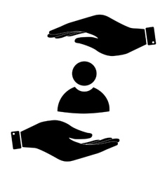 User sign in hand icon vector image vector image
