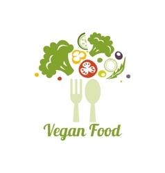 Vegetarian food symbol Creative logo design vector image vector image