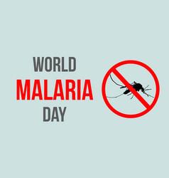 world malaria day style background vector image