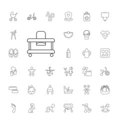 33 baby icons vector