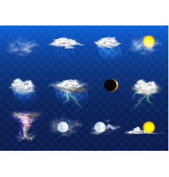3d realistic weather forecast metcast vector image