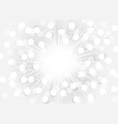 Abstract bokeh sunburst on white background vector