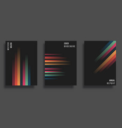 Abstract cover design gradient lines vector