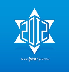Abstract design element David star with new year vector