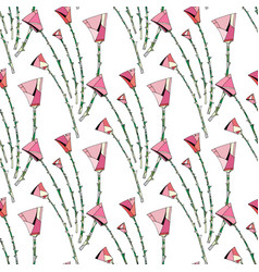 abstract roses pattern floral seamless background vector image vector image