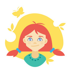 avatar of a girl vector image