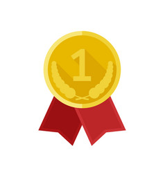 award gold medal vector image