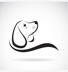 Beagle dog design on white background pet vector